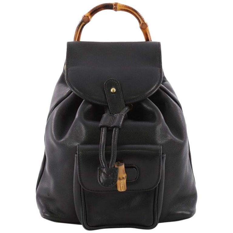 Gucci Vintage Bamboo Backpack Leather Mini at 1stdibs