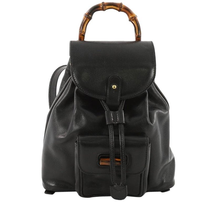 0f6f680c33fe Gucci Vintage Bamboo Backpack Leather Mini at 1stdibs