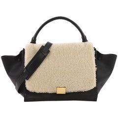 Celine Trapeze Handbag Shearling and Leather Medium