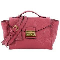 Prada Pattina Convertible Shoulder Bag Vitello Daino Medium