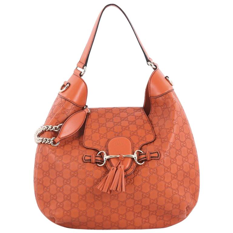 a644349b7de Gucci Emily Hobo Guccissima Leather Medium at 1stdibs