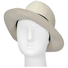 Ivory Halston Doeskin Fedora Hat, 1970s