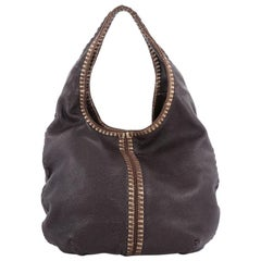 Bottega Veneta Double Compartment Hobo Leather Large