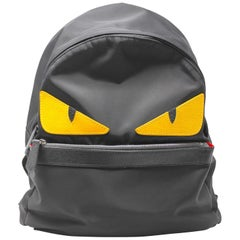 Fendi Monster Black Nylon Backpack, AW2014