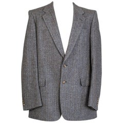 Men's Christian Dior Greige Herringbone Sport Jacket, 1970s