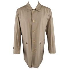 Men's ALLEGRI 40 Dark Khaki Light Weight Wool Blend Car Coat