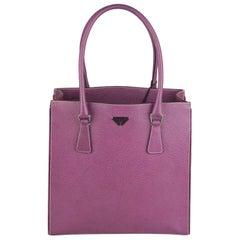 Prada Purple Pigskin Leather Tote Handbag