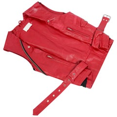 Maison Martin Margiela red leather vest iconic collectors item