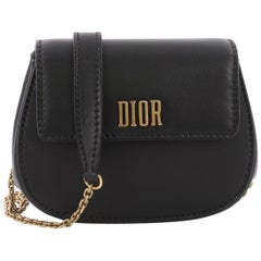 Christian Dior Dio(r)evolution Round Clutch with Chain Leather Small