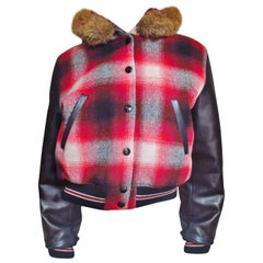 1980s Junior Gaultier Plaid Jacket with Hood