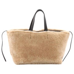 Celine Reversible Phantom Cabas Tote Shearling and Leather Small