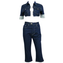 Jean Paul Gaultier Vintage Denim Ensemble