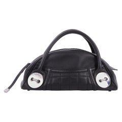 Chanel Button Dome Satchel Caviar Small
