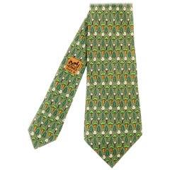 Hermes Vintage Silk Tie 'Evergreen'