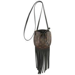 Louis Vuitton Fringed Noe Monogram Canvas with Leather Mini
