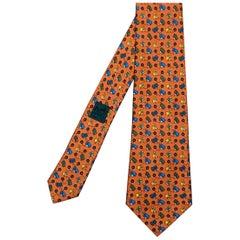 Chic Hermes Vintage Silk Tie 'Starters Orders'