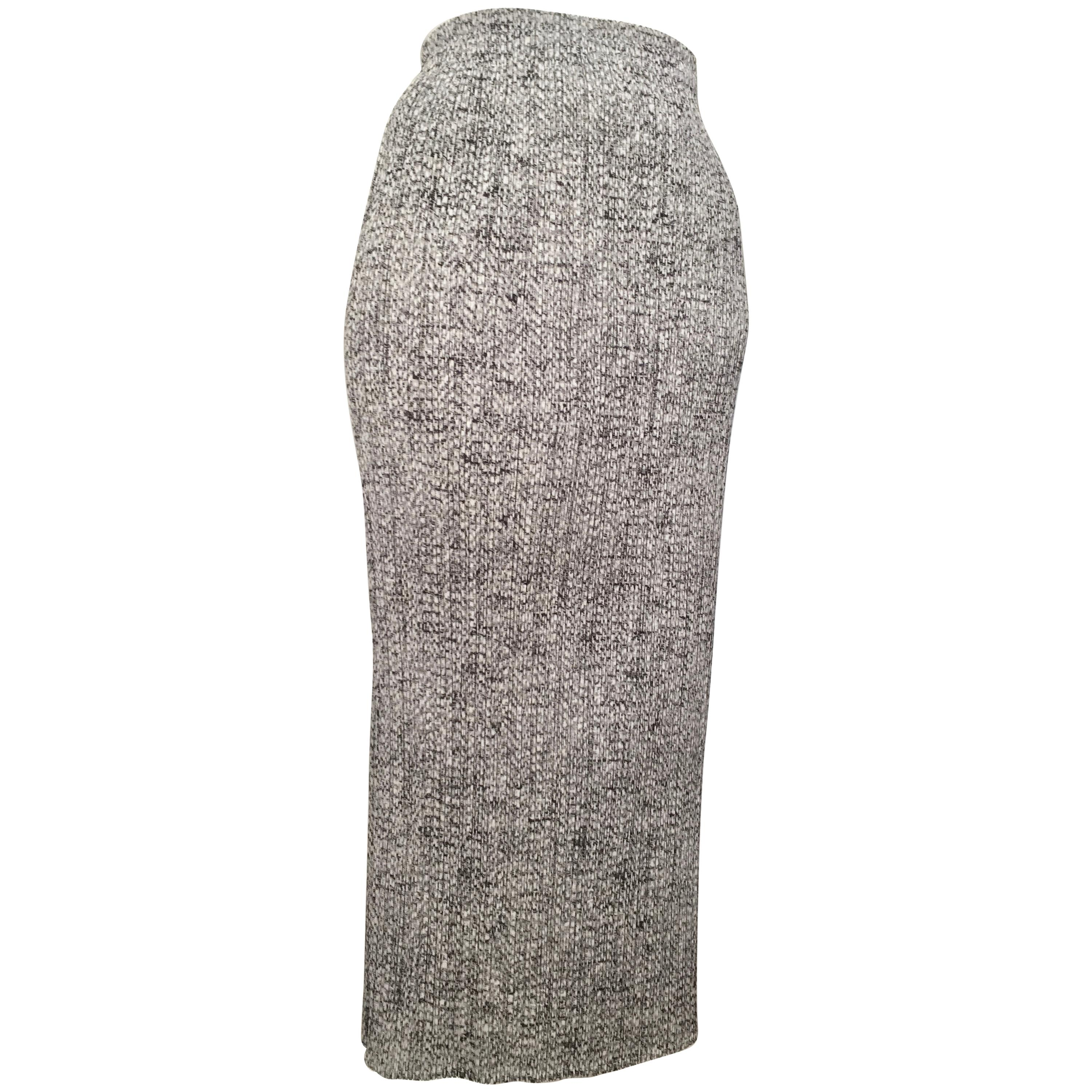 a994f47463 Issey Miyake Pleats Please 1990s Black and White Long Skirt Size Small. at  1stdibs