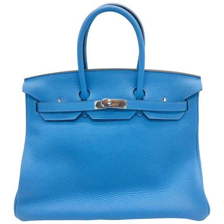 59e83a83cd3f Hermes Bleu Paradis Birkin 35cm in Clemence For Sale at 1stdibs
