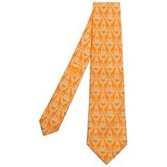Rare Hermes Vintage Silk Tie 'Giraffes'