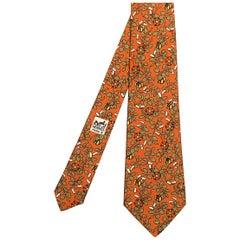 Wow Hermes Vintage Silk Tie 'Cotton & Cadeaux'