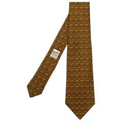 Pristine Vintage Hermes silk Tie 'Straps & Buckles'