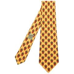 Pristine Vintage Hermes Silk Tie 'Scrolls'