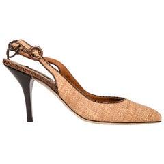 8a5d575e151 Dolce Gabbana Shoe Woven Hemp   Raffia Lizard Details 40.5  10.5