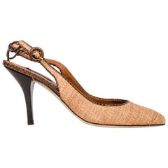 9b7b88b6c Dolce&Gabbana Shoe Woven Hemp / Raffia Lizard Details 40.5/ 10.5