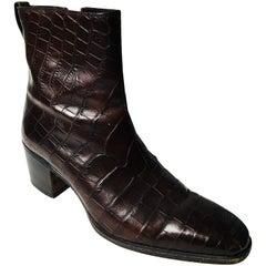 YSL Alligator Boots