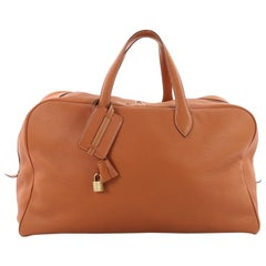 Hermes Victoria II Travel Bag Clemence 50