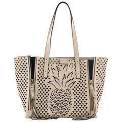 Chloe Milo Shopping Tote Laser Cut Leather Medium