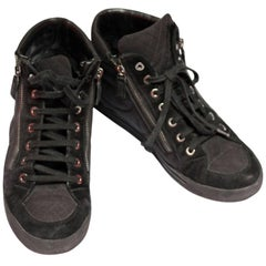 Chanel Black High Top Sneakers