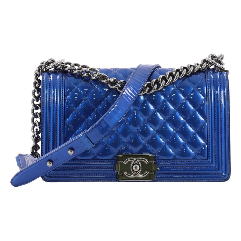 76aa228e36da Chanel Boy Flap Bag Quilted Patent Old Medium at 1stdibs