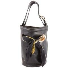 Hermes Black Box Calf Mangeoire Tote Bag and Hermès Passementerie Silk Scarf