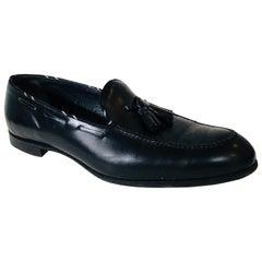 Barker Black Leather Loafers