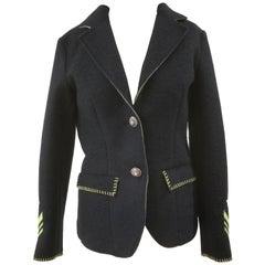 De'Hart Blue Wool Jacket