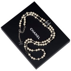 Never Worn Chanel Silver &  Pearl Necklace