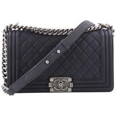 Chanel Boy Flap Bag Quilted Caviar Old Medium