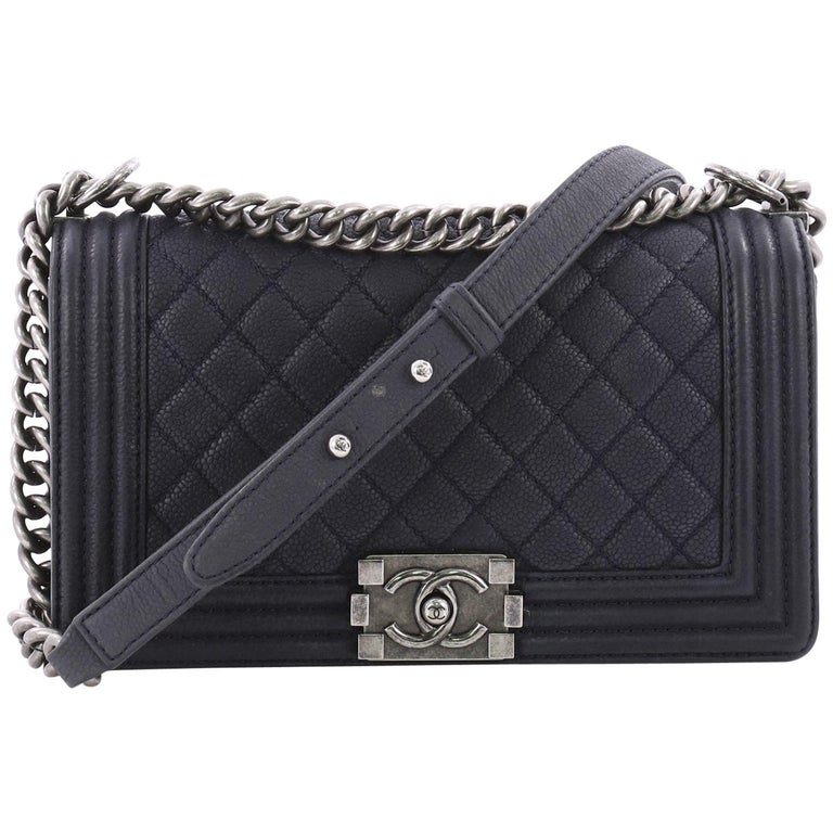 e86af3a4c21e Chanel Boy Flap Bag Quilted Caviar Old Medium at 1stdibs