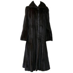1970s Dark Mink Coat