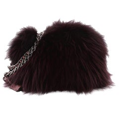 Prada Chain Shoulder Bag Fur with Python Small