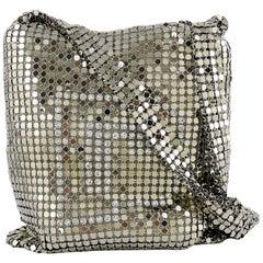 Paco Rabanne Mini Silver Mesh Messenger Bag