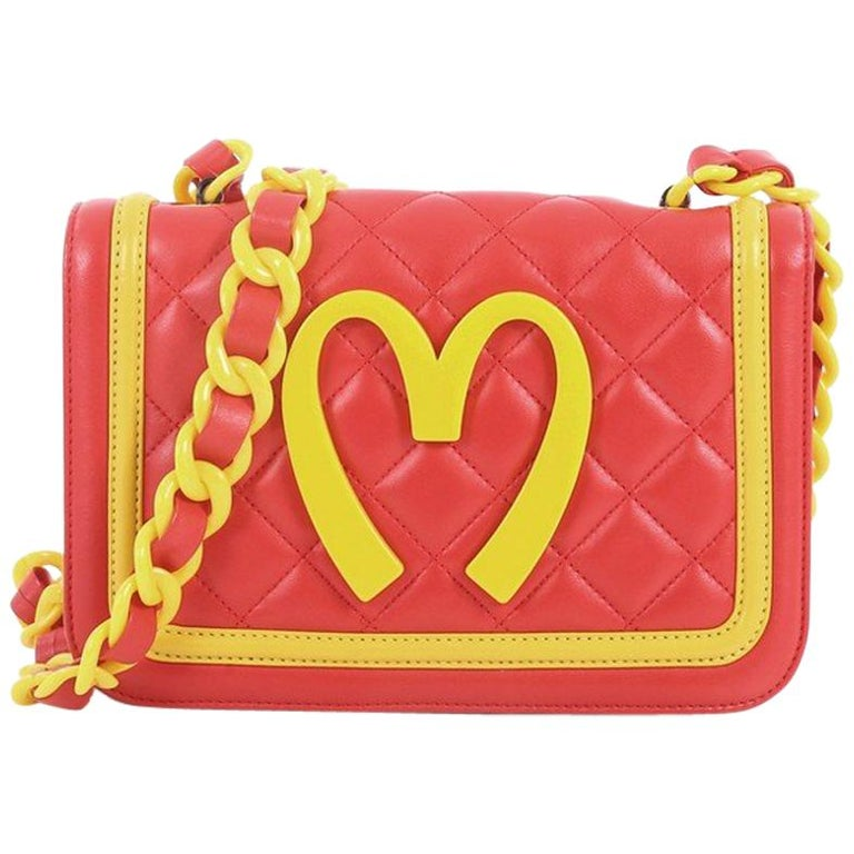 Moschino Happy Meal Shoulder Bag Leather Medium