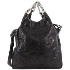 Chanel Rodeo Drive Hobo Perforated Leather Large
