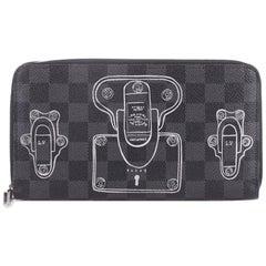 Louis Vuitton Zippy Organizer Limited Edition Trunks and Locks Damier Graphite