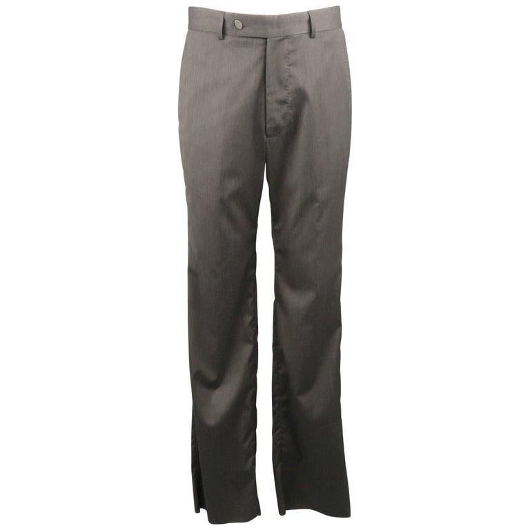 VIVIENNE WESTWOOD Size 32 Charcoal Solid Wool / Nylon Dress Pants