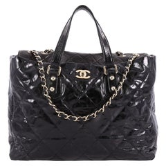 Chanel Portobello Tote Quilted Glazed Calfskin Large