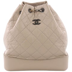 Chanel Gabrielle Backpack Quilted Aged Calfskin Medium