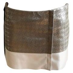 Superb 2012 Pre-Season DROMe Metallic Leather and Wool Mini Skirt (S) NWT