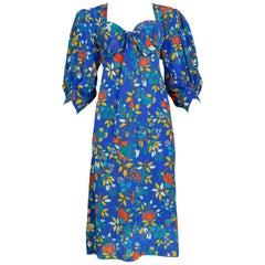 Vintage Yves Saint Lauren Floral Knot Dress